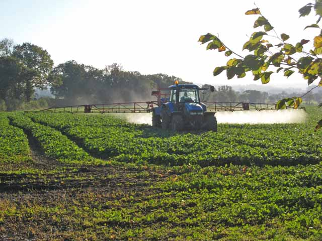 Crop spraying - geograph.org.uk - 274618
