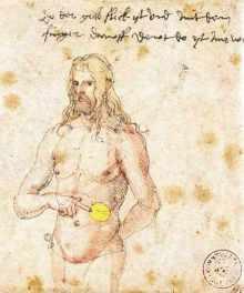 Dürer-wskazuje-na-swoją-śledzionę