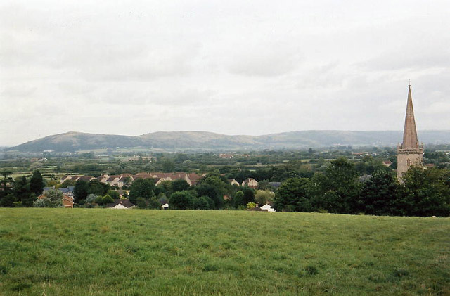 East Brent - Crook Peak and East Brent Church - geograph.org.uk - 43849