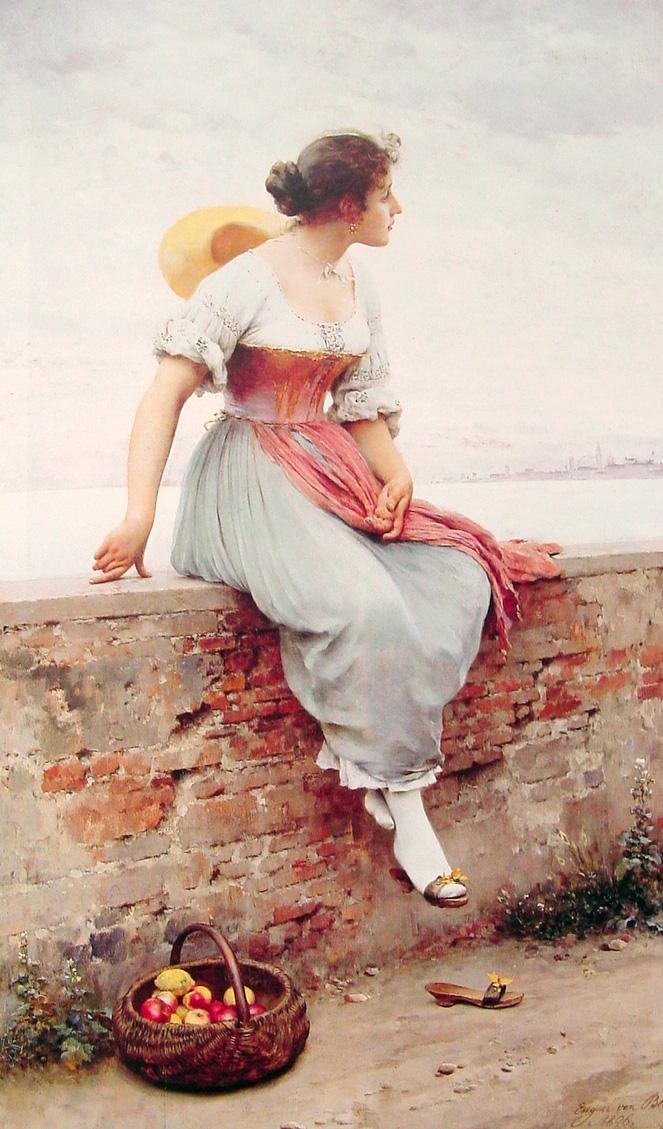 Eugene de Blaas A Pensive Moment.jpg