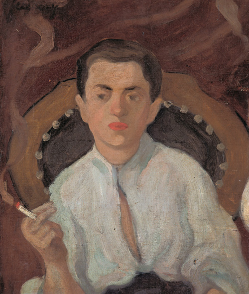 Ferenczy Smoking Young Man 1910s