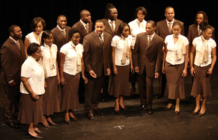 The Fisk Jubilee Singers' performance at the Dixie Carter Performing Arts and Academic Enrichment Center in Huntingdon, Tennessee in 2008. Fisk Jubilee Singers 2008.jpg