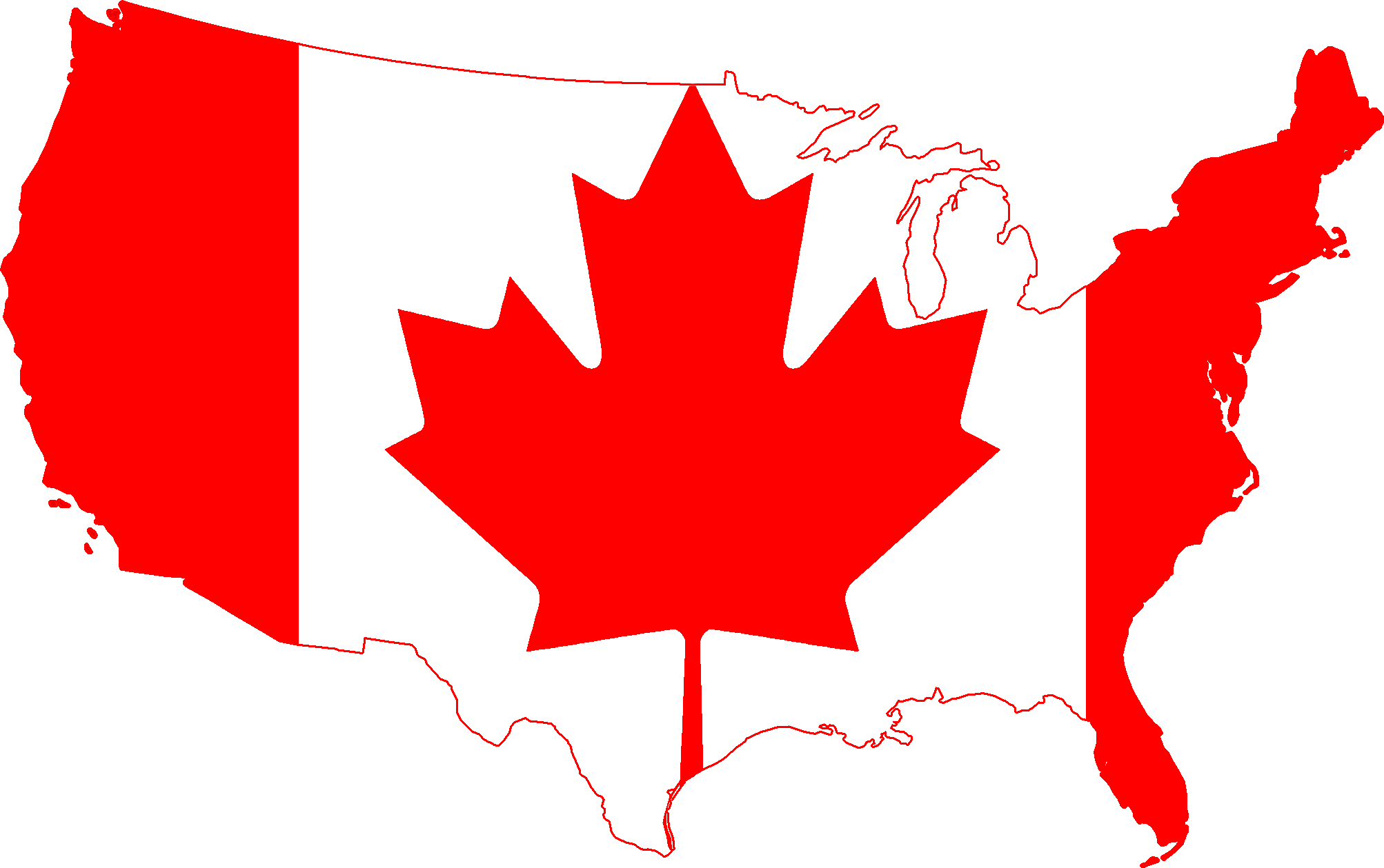 Canada And Usa Flag Map File:Flag Map of the United States (Canada).png   Wikimedia Commons