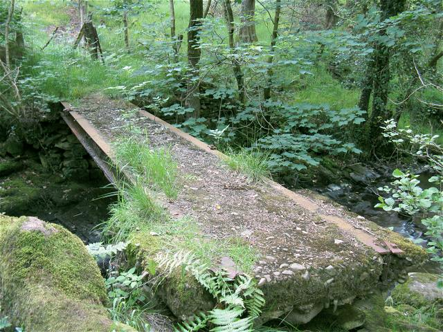 Footbridge over Lower Clydach River - geograph.org.uk - 846486