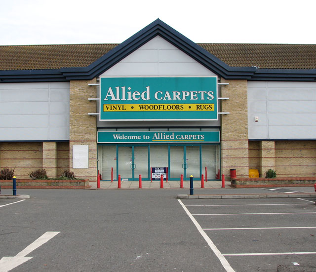 File Forest Retail Park Allied Carpets Geograph Org Uk 1758474 Jpg