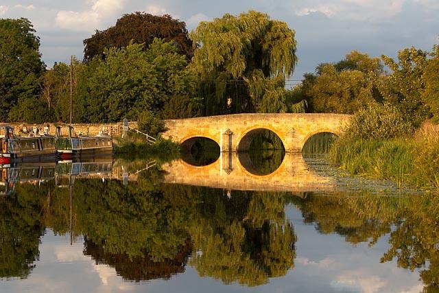 Fotheringhay bridge at sunset - geograph.org.uk - 309841