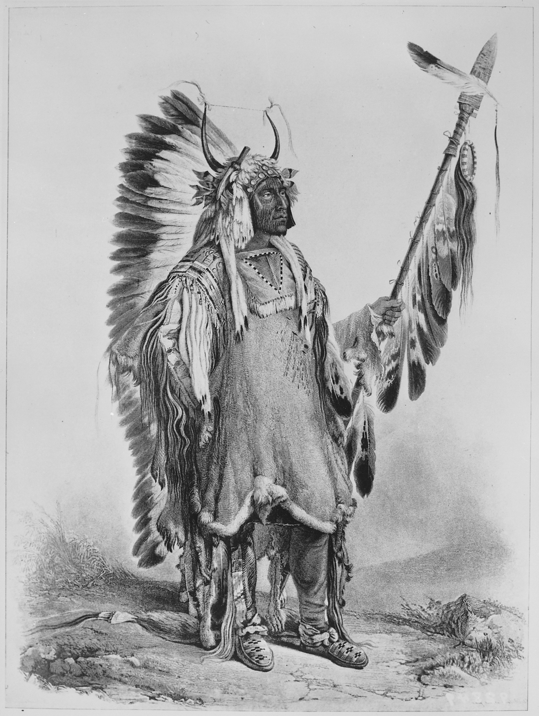 File:Four Bears (Mato-Tope), a Mandan chief, full-length, standing ...