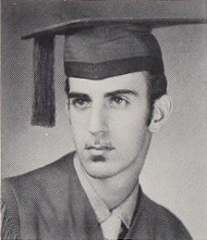 Zappa's senior yearbook photo, 1958