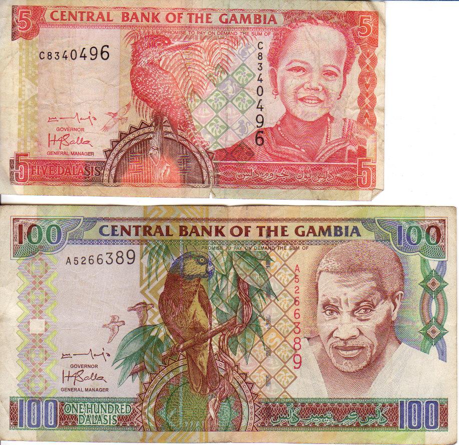 100  DALASIS   2013   Prefix E P 29b    Uncirculated Banknotes GAMBIA