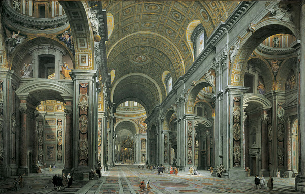 Giovanni Paolo Panini - Interior of St. Peter's, Rome