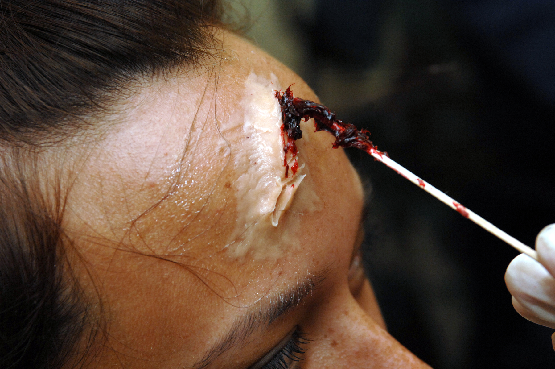 How to make a fake head wound for your performance in just 10 steps.
