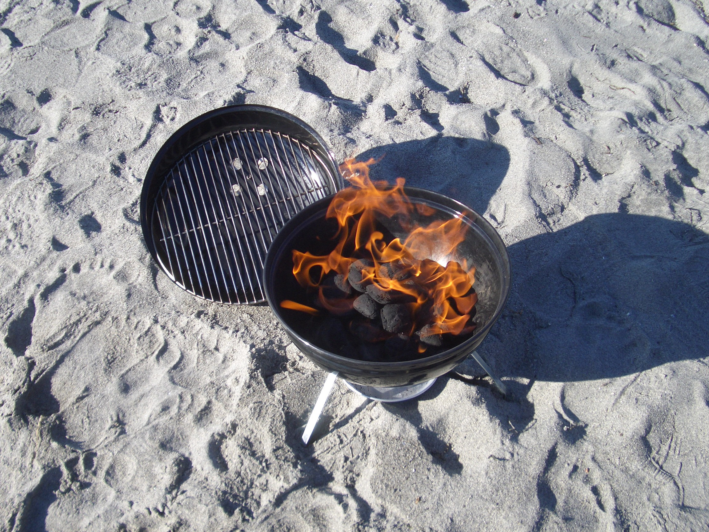 File Grilling On The Beach In February Jpg Wikimedia Commons