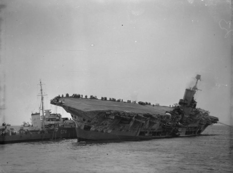 File:HMS Ark Royal sinking.jpg