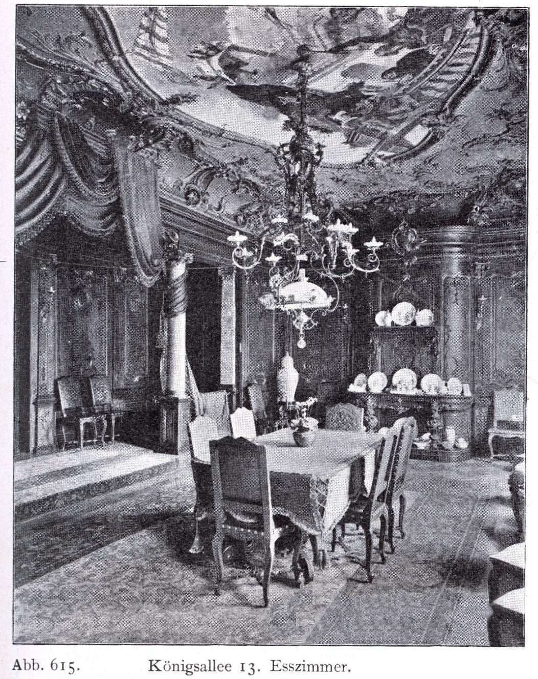 File:Haus Königsallee 13 In Düsseldorf, Esszimmer Umgebaut Durch Jacobs U0026  Wehling (1862