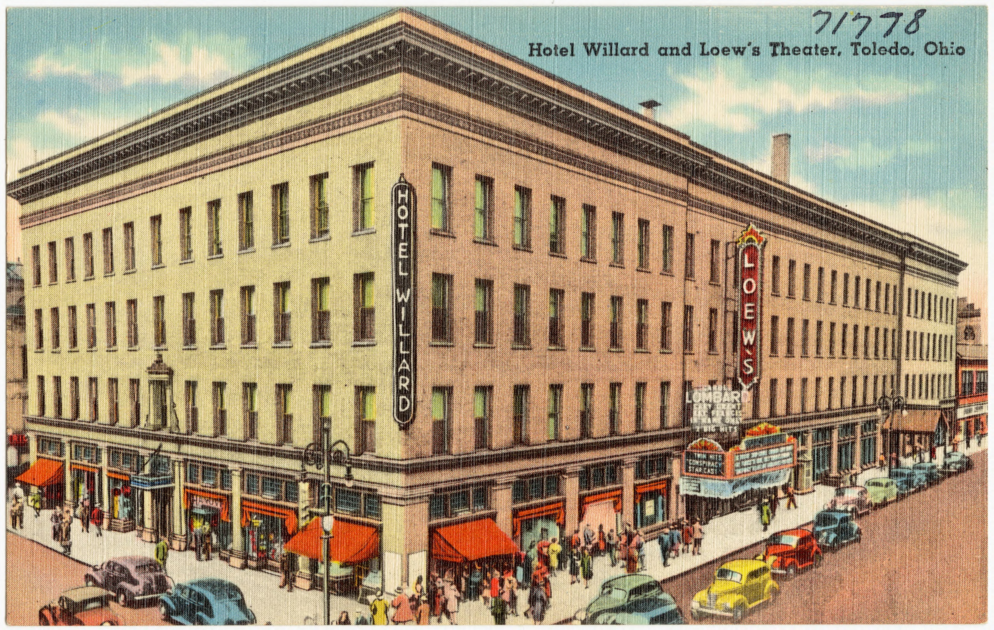 File Hotel Willard And Loew S Theater Toledo Ohio 71778 Jpg