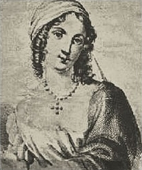 Italian poet Isabella di Morra, sometimes cited as a precursor of Romantic poets[84]