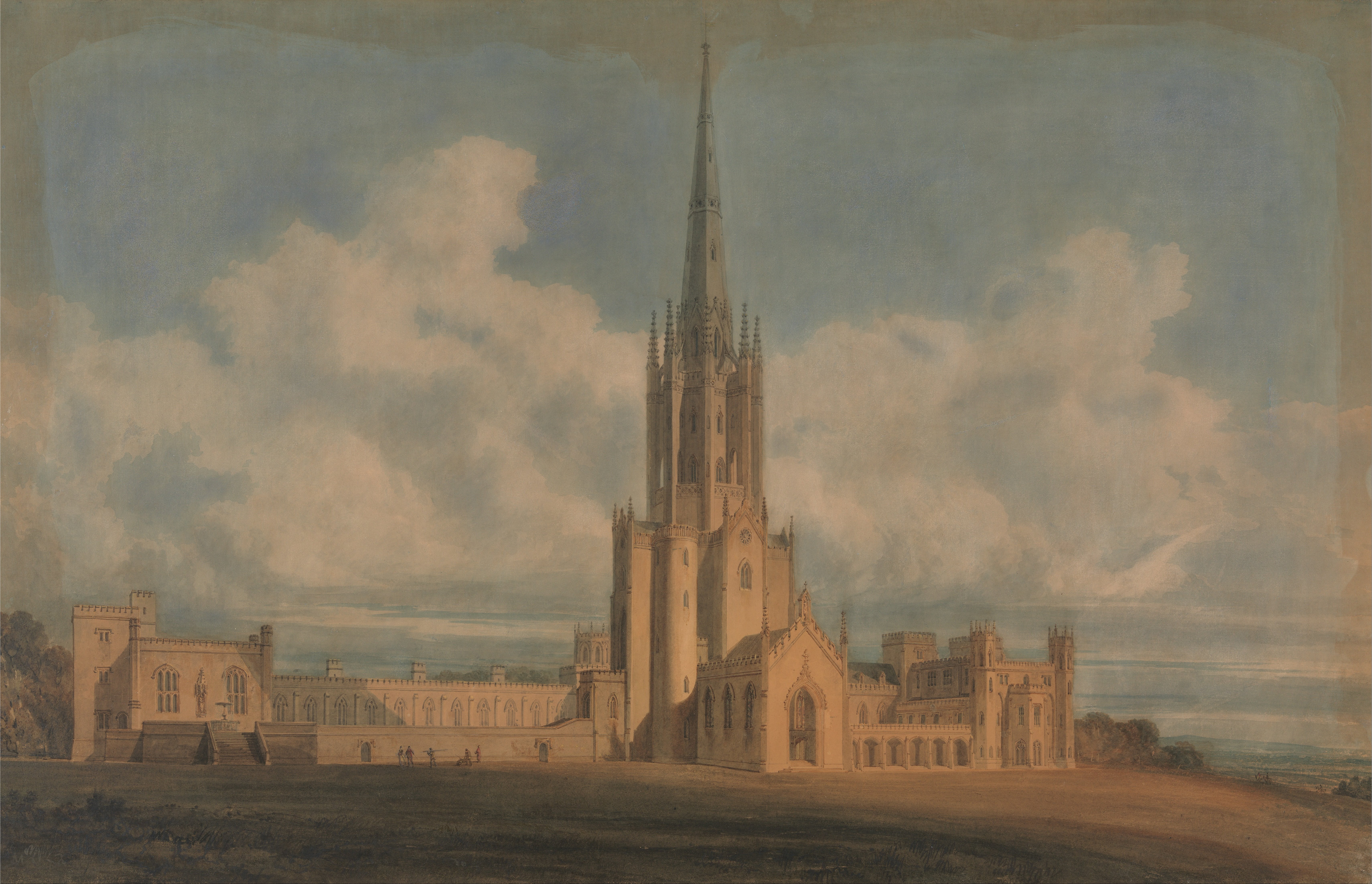 File:James Wyatt - Projected Design for Fonthill Abbey, Wiltshire - Google Art Project ...