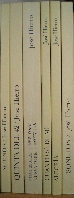 Libros de José Hierro.