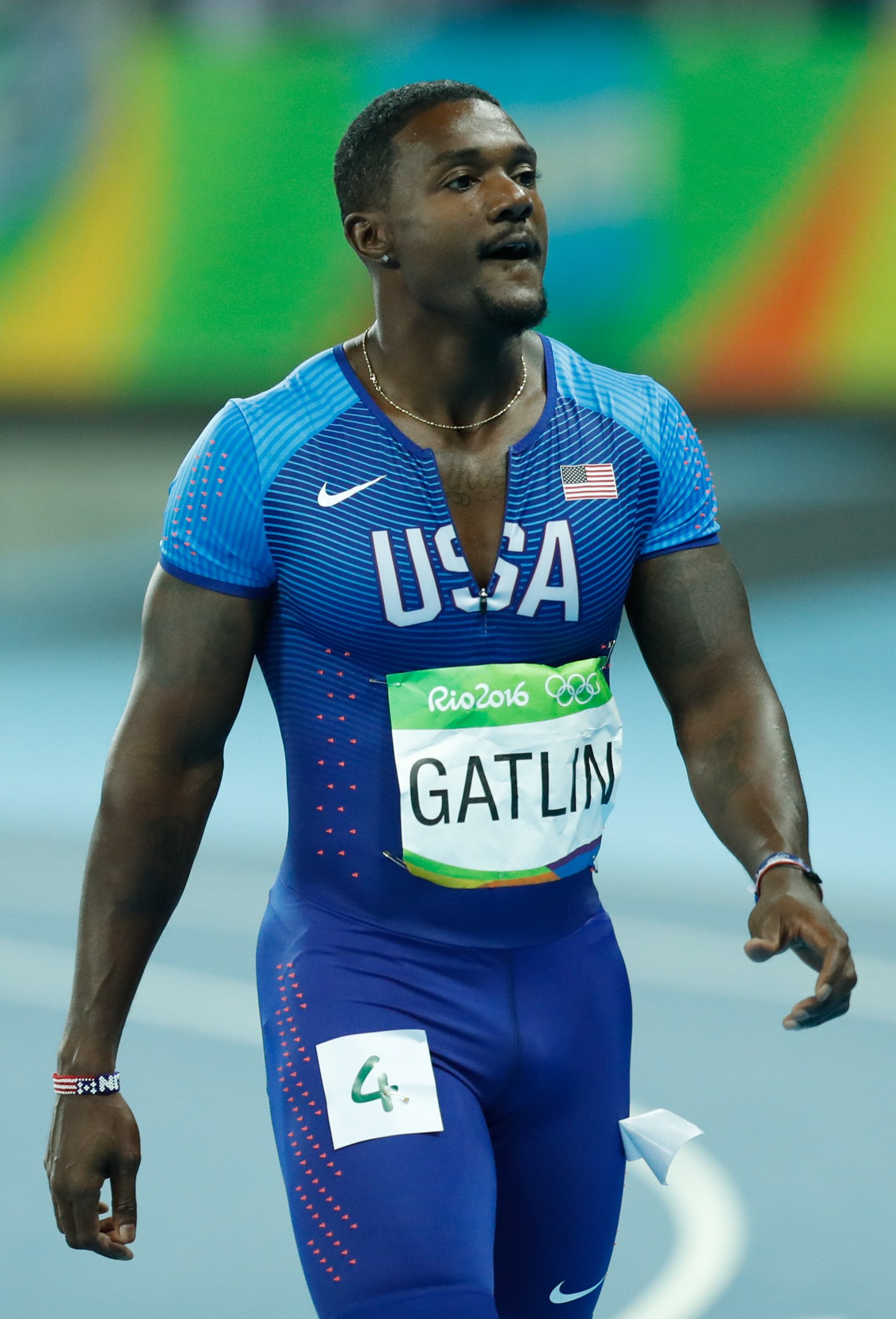 The 37-year old son of father (?) and mother(?) Justin Gatlin in 2019 photo. Justin Gatlin earned a  million dollar salary - leaving the net worth at 1 million in 2019