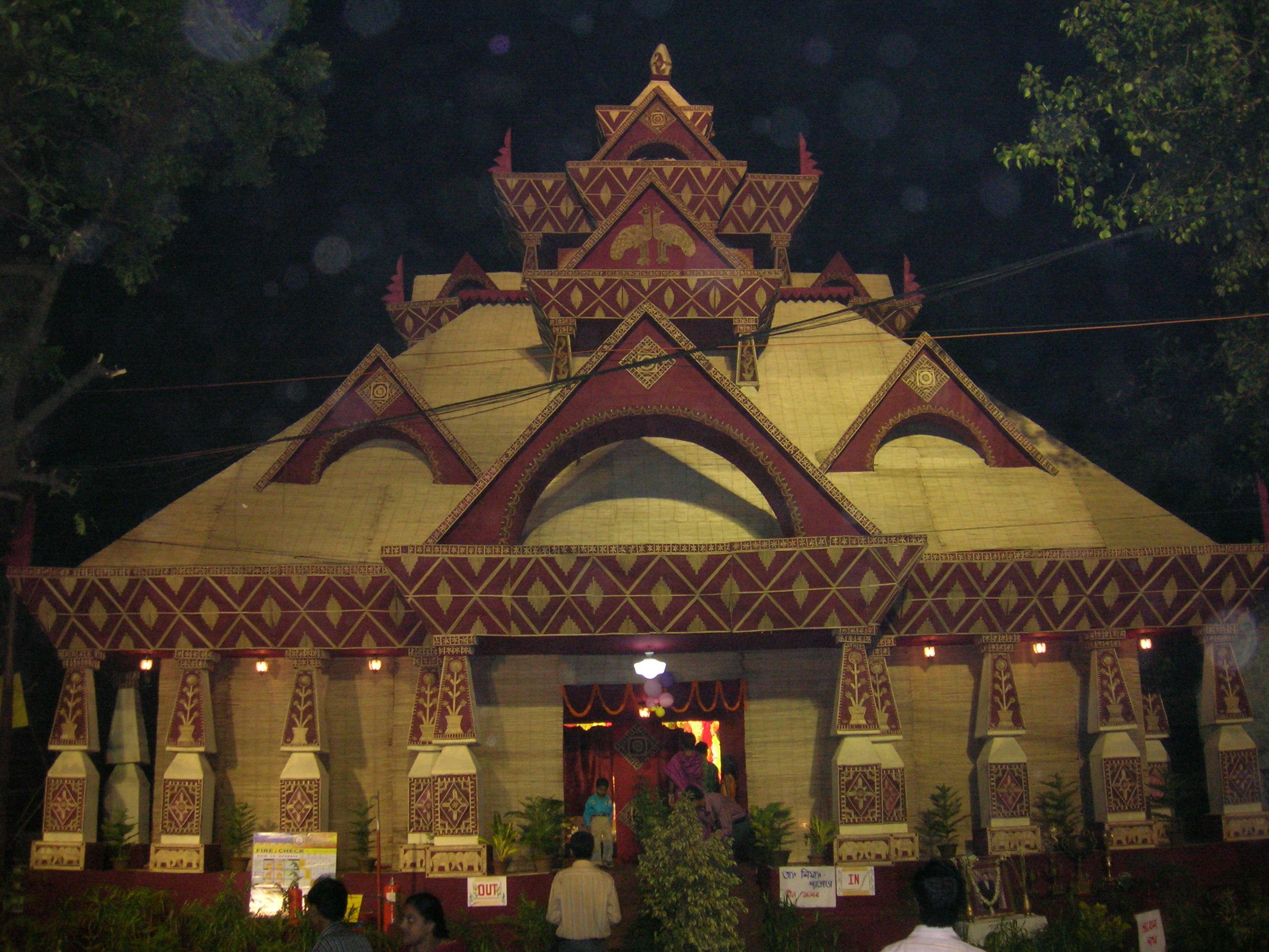 Puja Pandal 2014 Puja Pandal at Kolkata.jpg