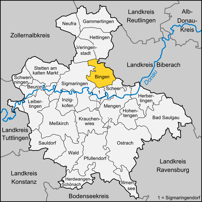 Bingen Germany Map.Bingen Baden Wurttemberg Wikipedia