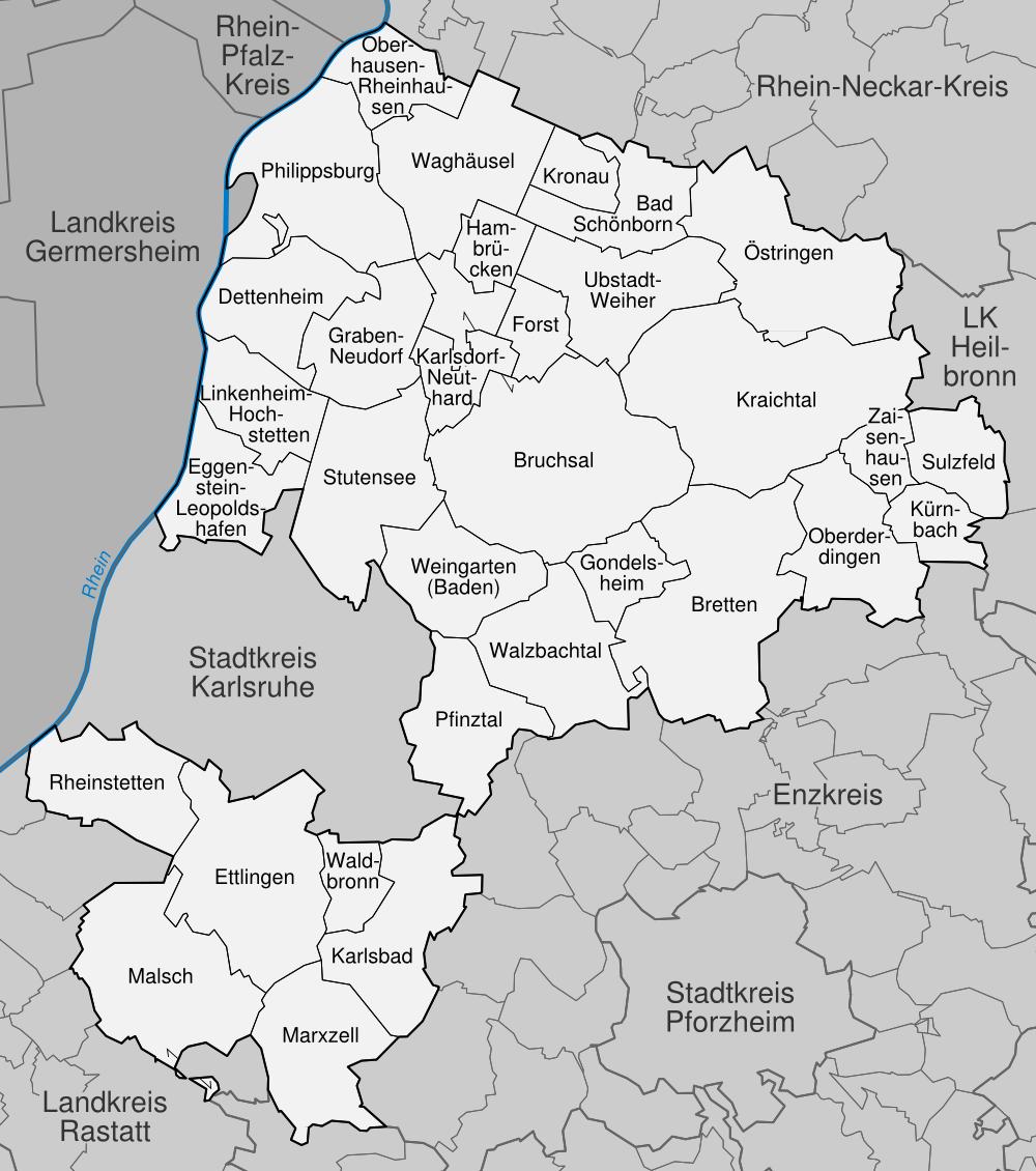 Karte Karlsruhe.Datei Karte Landkreis Karlsruhe Png Wikipedia