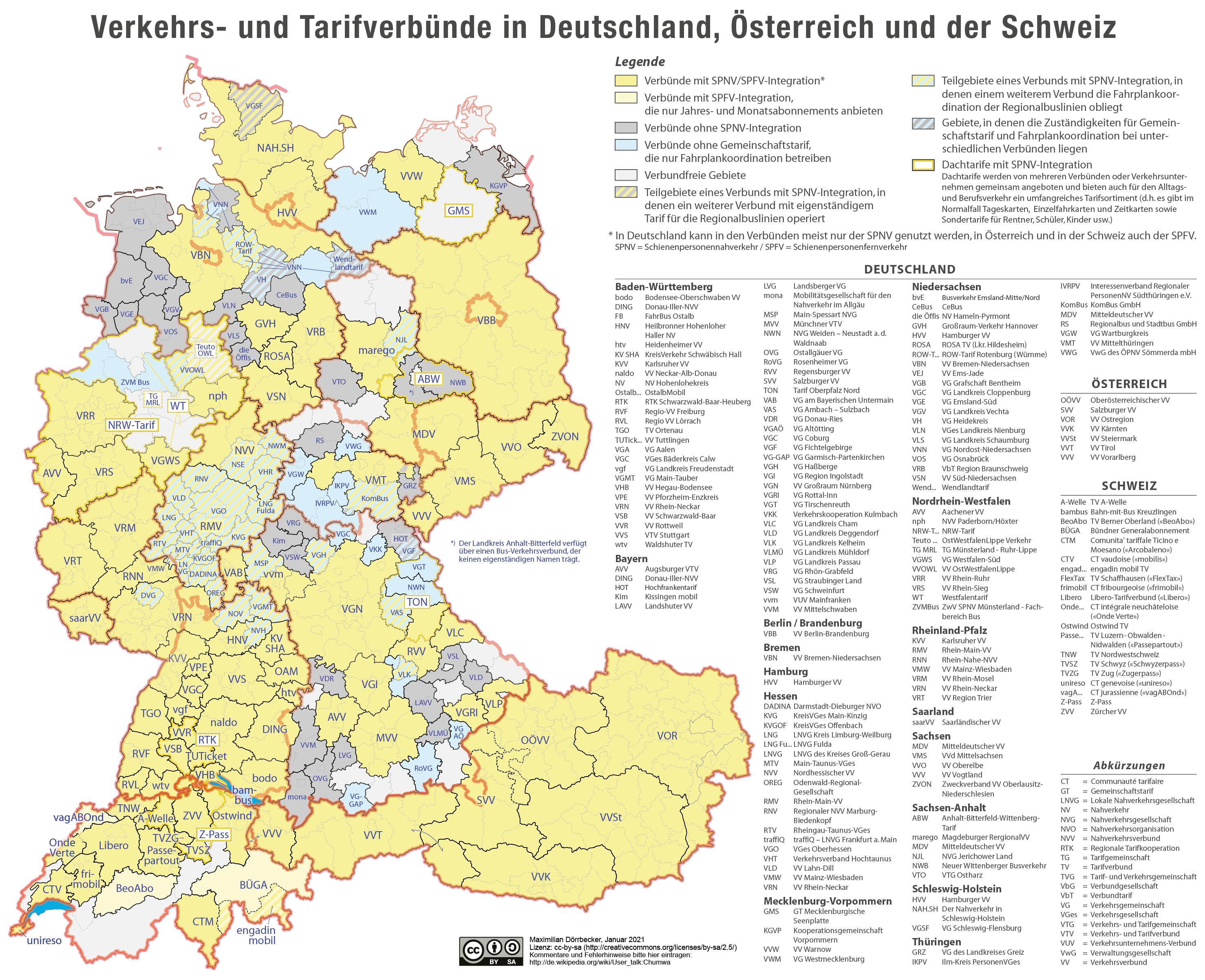 Karte Süddeutschland österreich Schweiz.Datei Karte Der Verkehrsverbünde Und Tarifverbünde In Deutschland