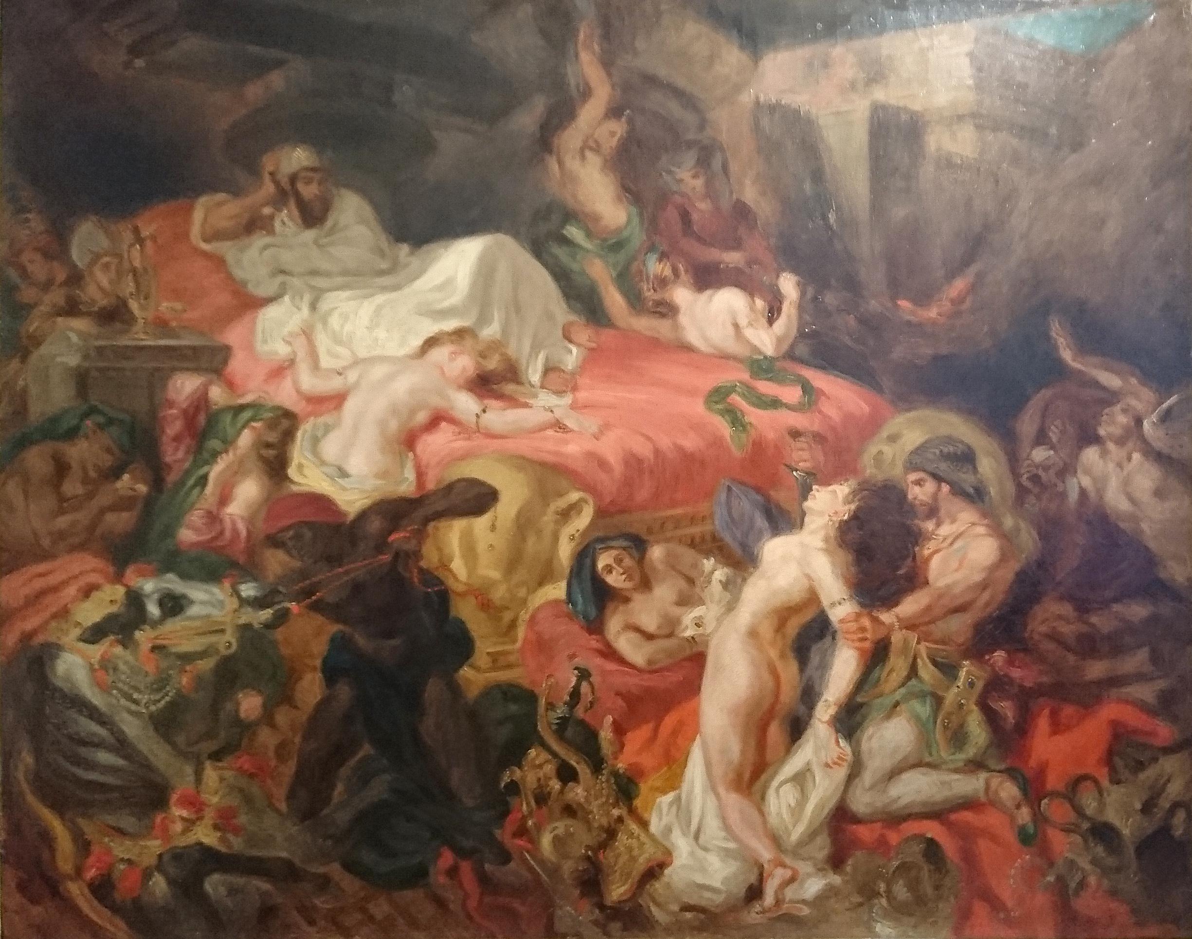file la mort de sardanapale  copie de fr u00e9d u00e9ric villot d