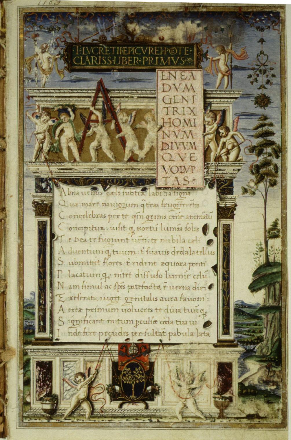 Picture of a book: De Rerum Natura