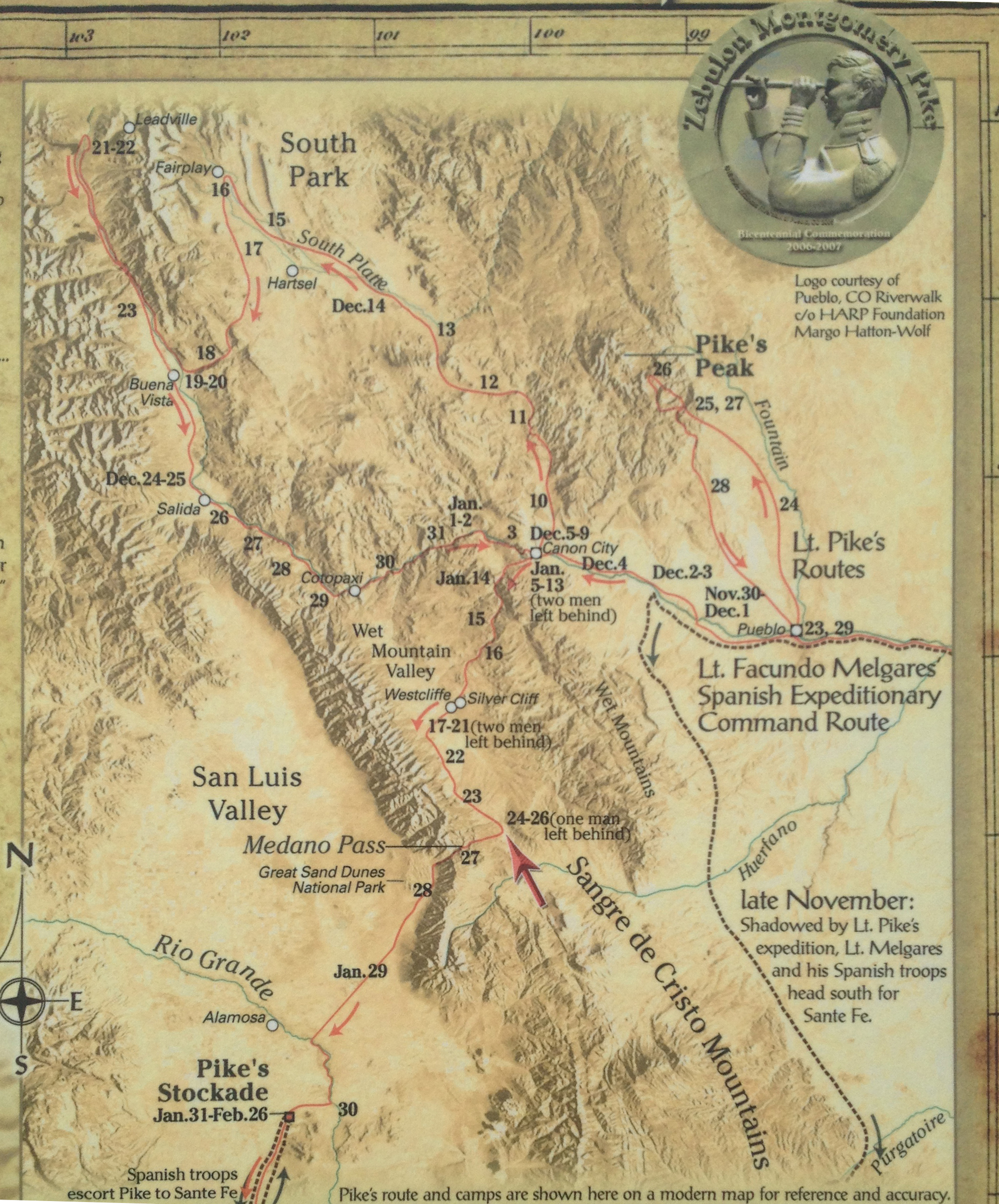 FileMap Of Pike Expedition In Coloradojpg Wikimedia - 1806 map of the us
