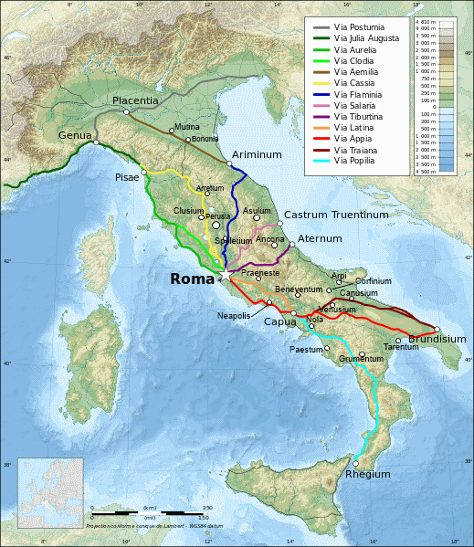 File Map Of Roman Italy Png Wikimedia Commons