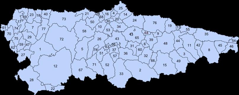 Mapa De Asturias Concejos.Archivo Mapa De Asturias Con Municipios Png Wikipedia La