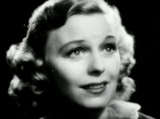 Sullavan as the night club singer who learns about love in The Shopworn Angel (1938). Margaret Sullavan in The Shopworn Angel trailer.JPG