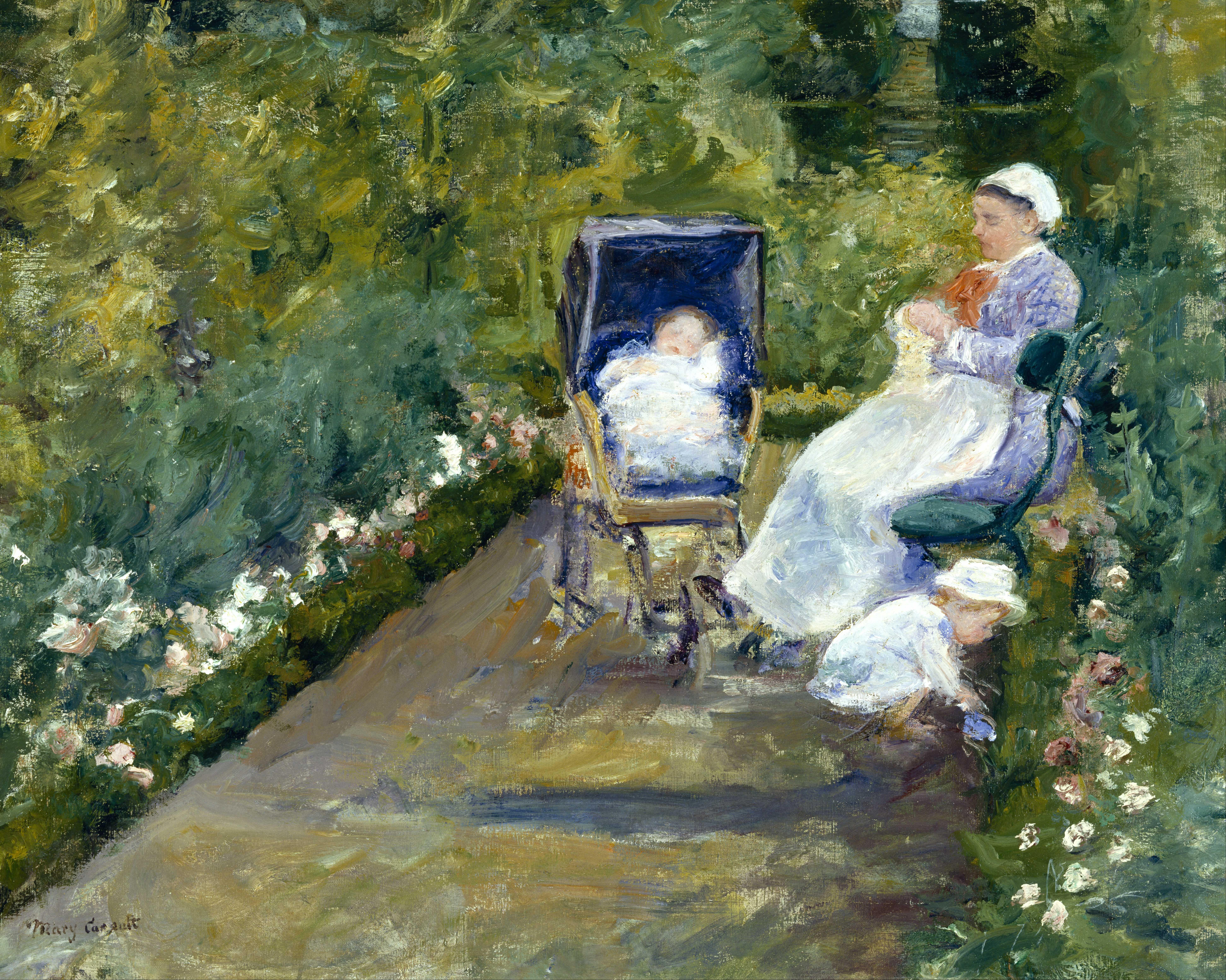 Mary Cassatt Children in a Garden The Nurse Google Art Project