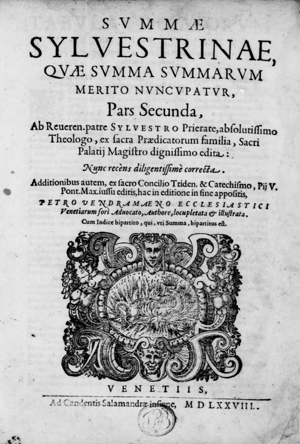 ''Summa summarum quae Silvestrina dicitur'', 1578