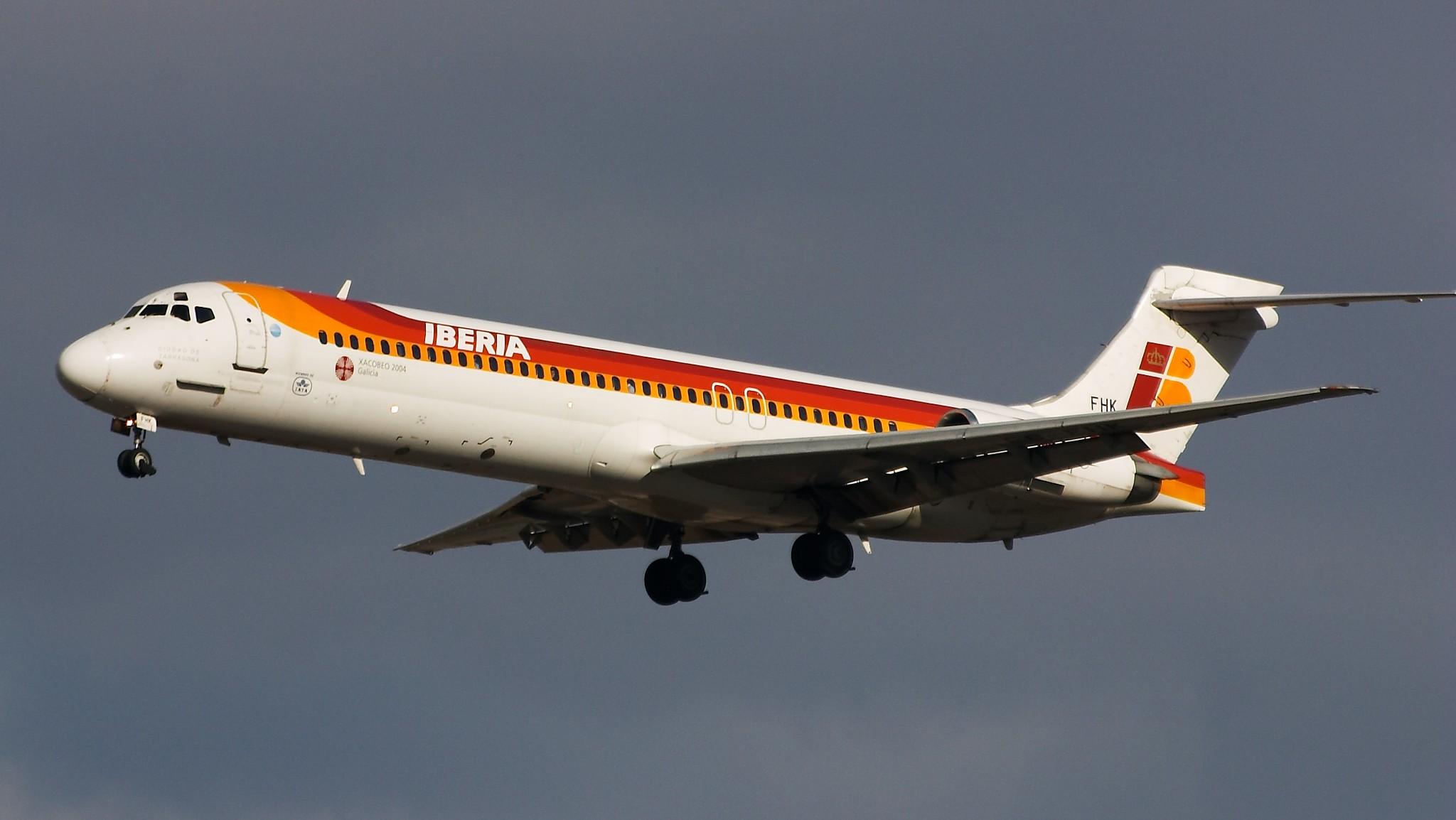 flota de avion iberia: