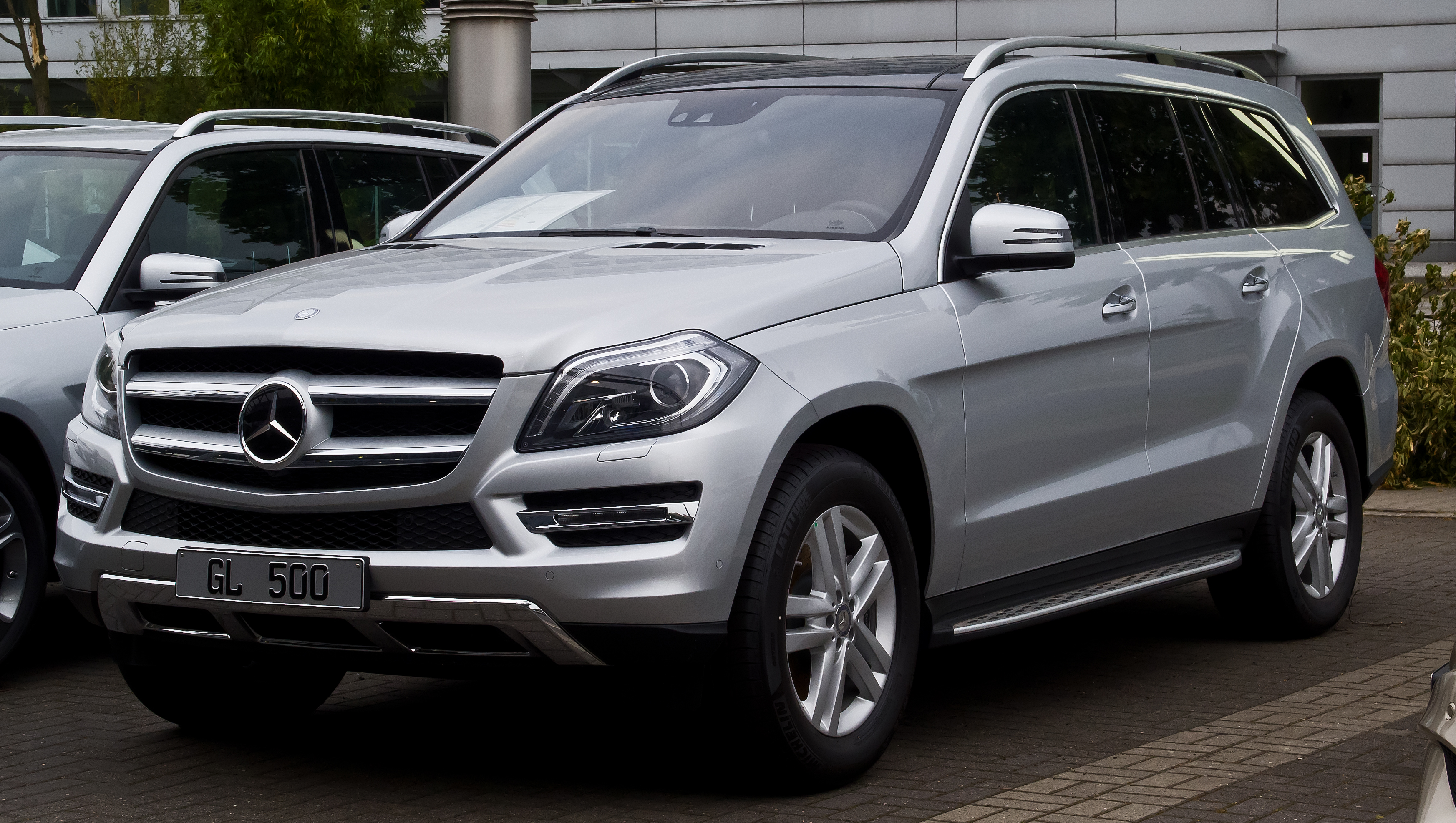 File mercedes benz gl 500 4matic x 166 frontansicht for Mercedes benz c 500