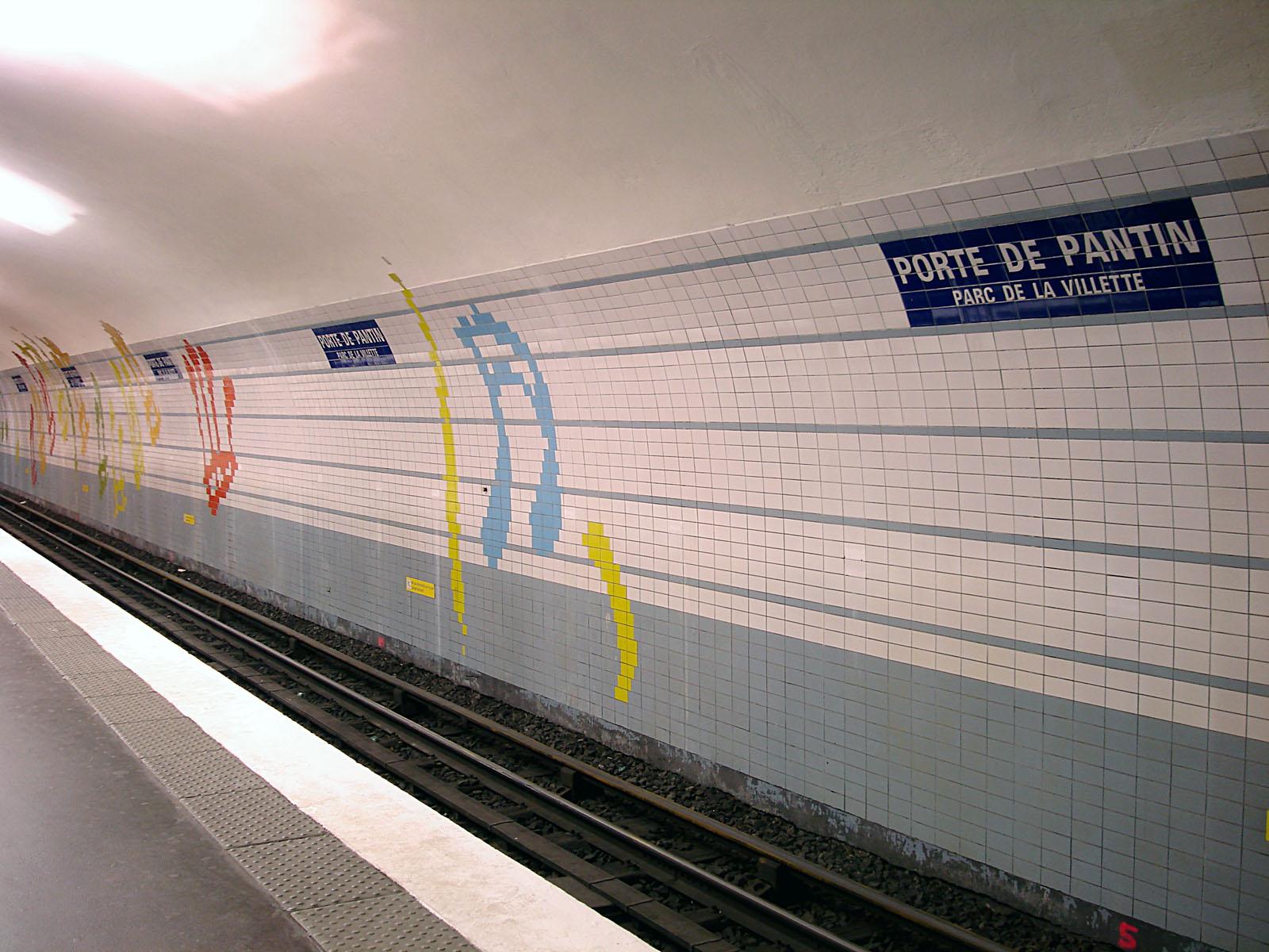 File metro de paris ligne 5 porte de pantin wikimedia commons - Fourriere porte de pantin ...
