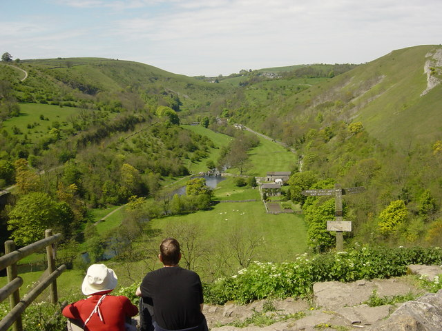 Monsal Dale from Monsal Head Pub - geograph.org.uk - 344296