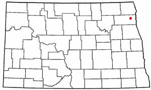 Location of Grafton, North Dakota