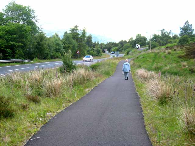 New cycle route at the head of Glen Ogle - geograph.org.uk - 873273