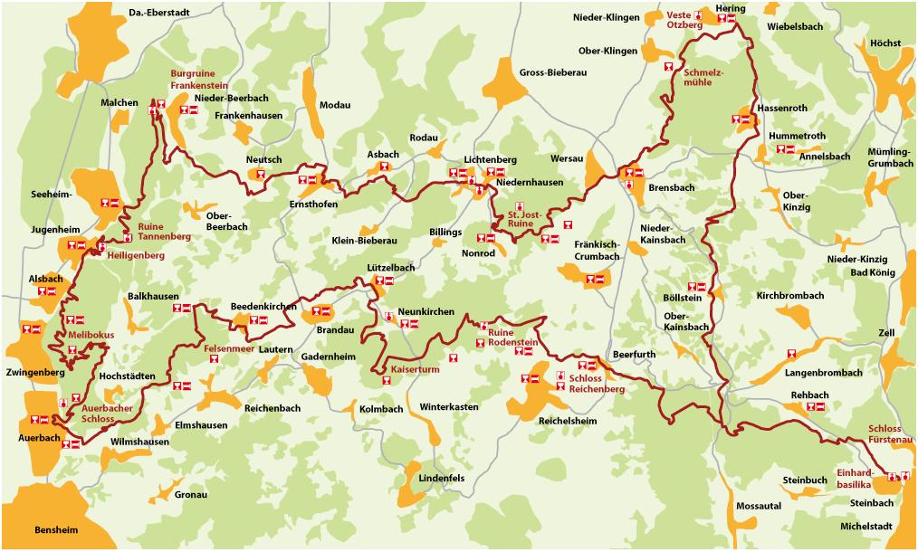 karte odenwald Datei:Odenwald Alemannenweg Karte. – Wikipedia