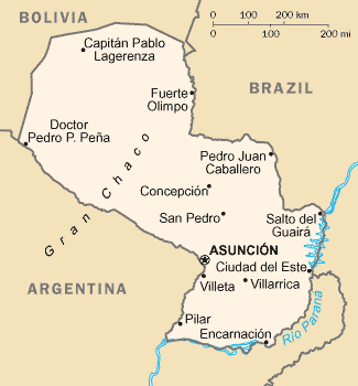 Atlas Of Paraguay Wikimedia Commons - Map of paraguay world