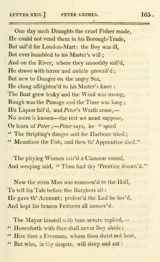 "Page from ""Peter Grimes"" in 1812 edition of Crabbe's The Borough Peter-grimes-the-borough-1812.jpg"