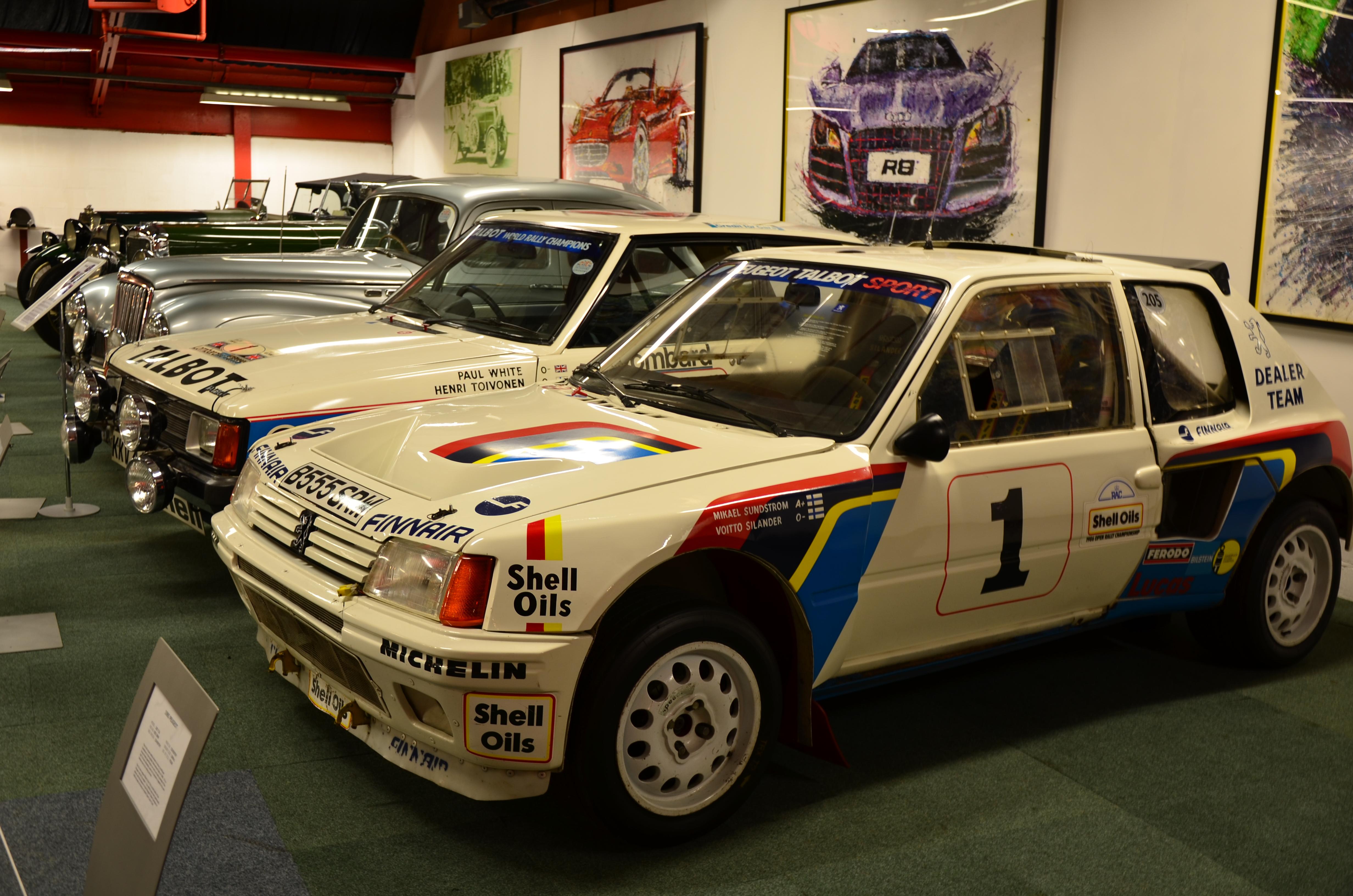 File Peugeot 205 Rally Car At Coventry Motor Museum Jpg