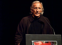 English: John Pilger speaking at Marxism 2010,...