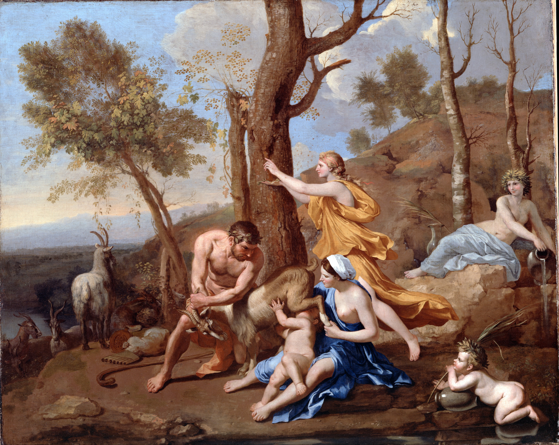 The Nurture of Jupiter by Poussin, Nicolas