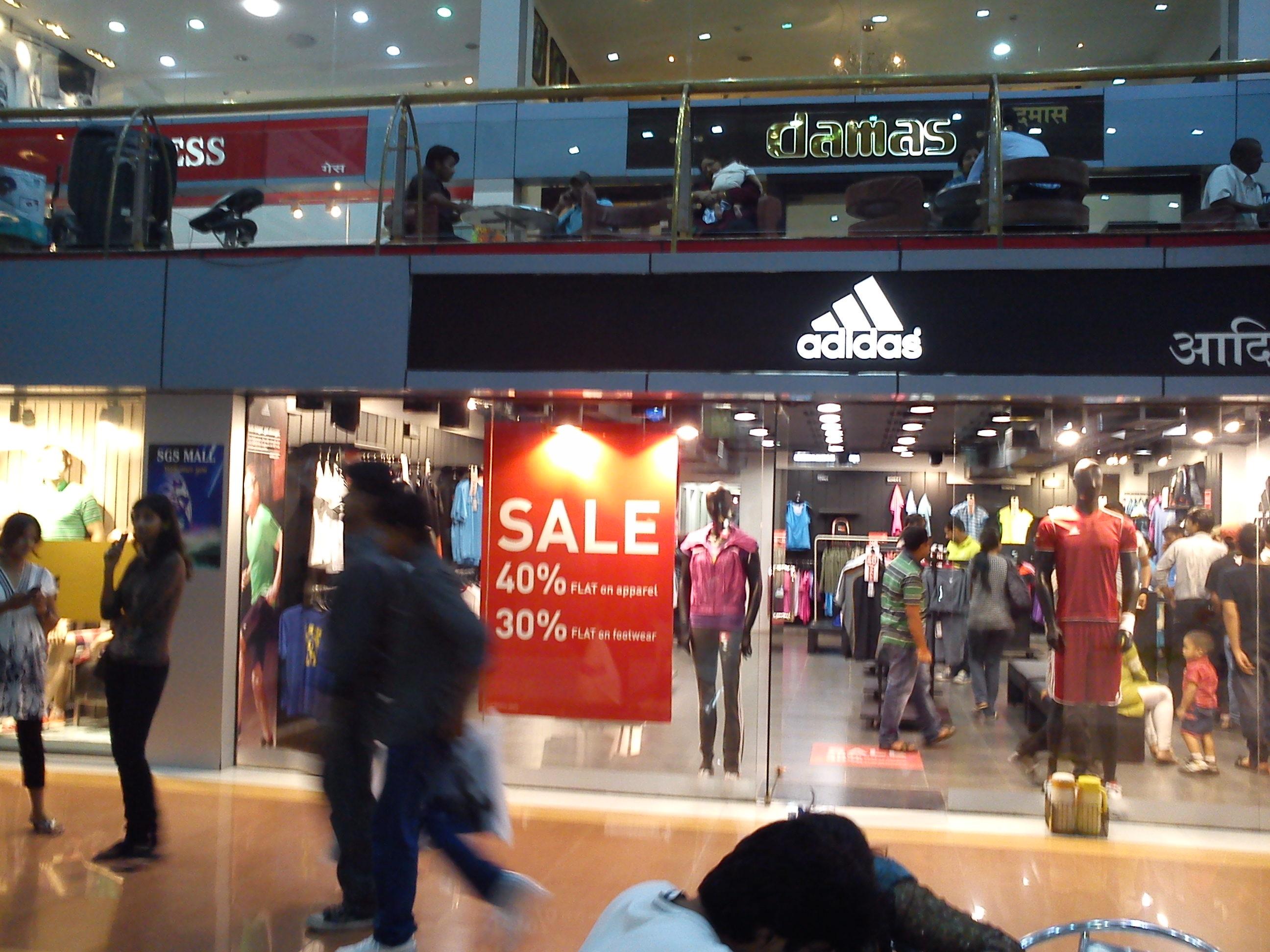 adidas store locator kolkata