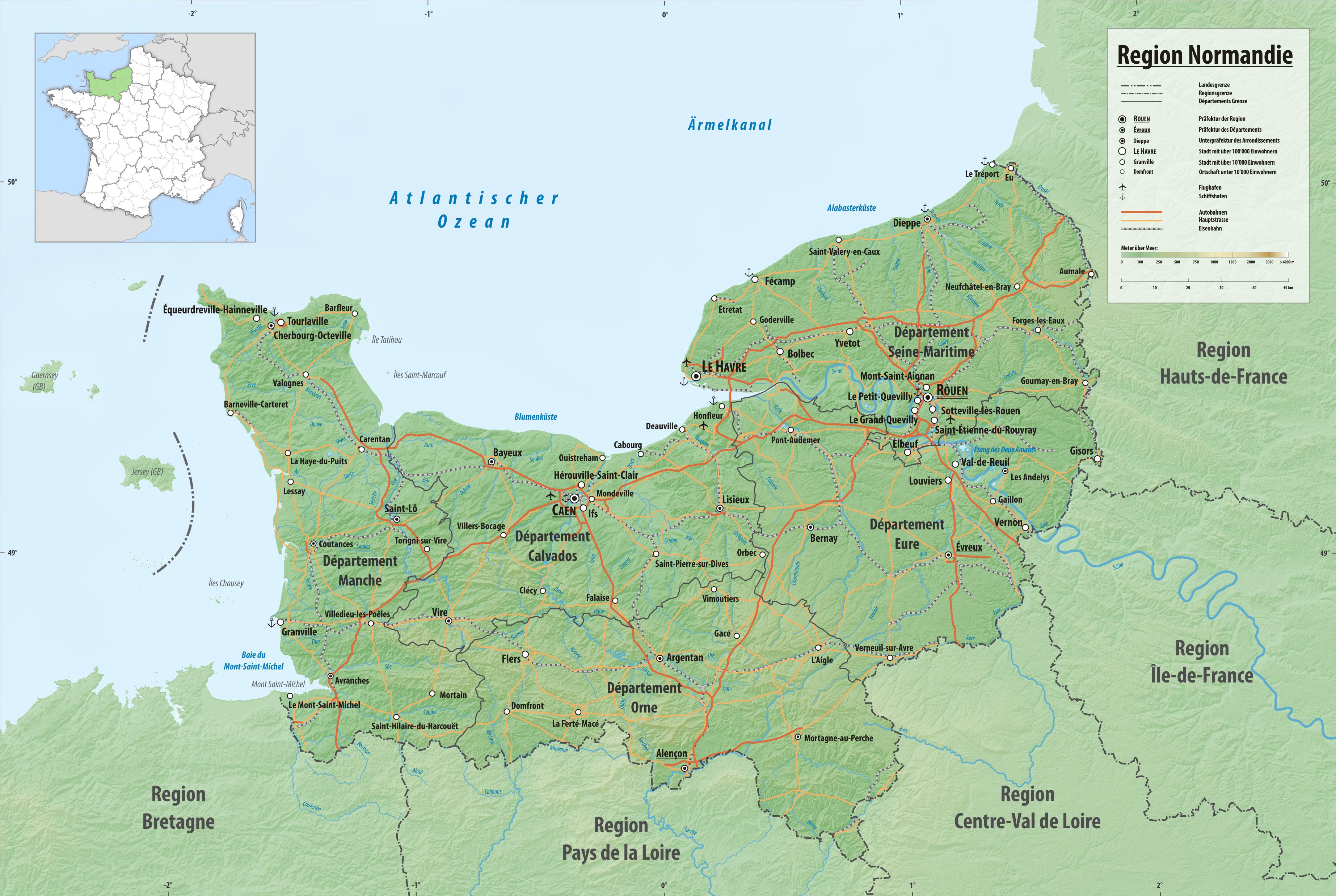 Die normandie eine region in westfrankreich for Haute normandie basse normandie