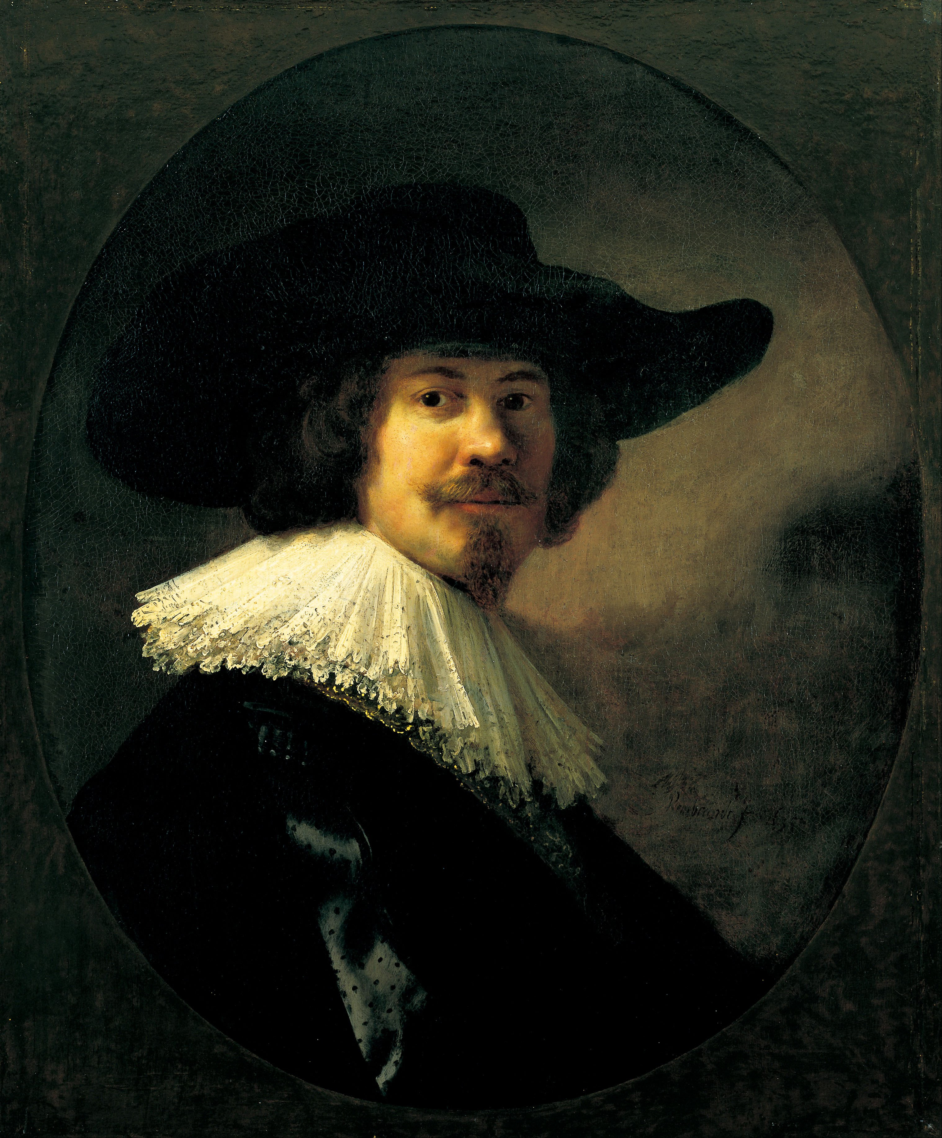 Rembrandt van Rijn - Portrait of a Man in a Broad-Brimmed Hat - Google Art Project.jpg
